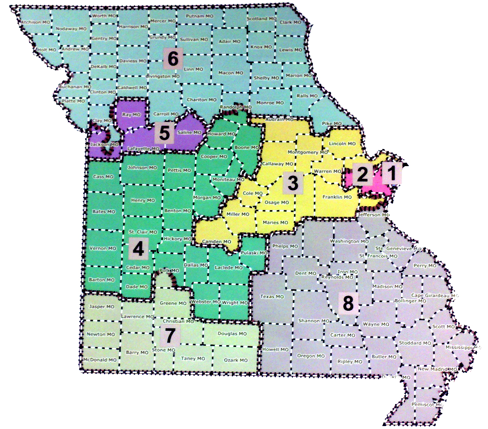 Missouri Redistricting Pounds Of Headlines Page Missouri Us House District Map